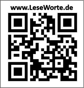 QR Leseworte - 2D sw mit Schriftzug